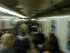 00858 - crowded tunnel, blurry