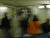 00861 - crowded tunnel, blurry