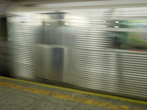 184 - Train speeding by