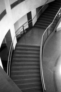 Staircase at Sam Noble Museum of Natural History, Norman Oklahoma  Fed 1 camera