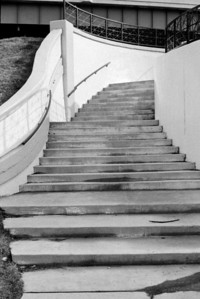 Stairs near the River in downtown Dayton  Wards AM 551