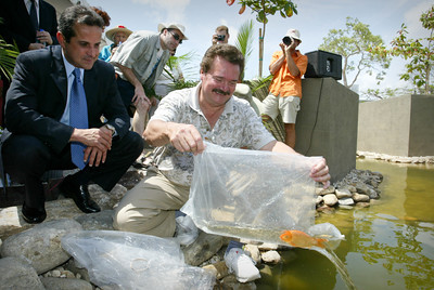 April 29,2004 City of Miami Mayor Diaz at the Opening of Japanese Gardens.