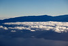 Flying over the North Coast of Maui over looking Haleakala.