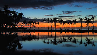 """Sunset at Anaehoomalu Bay"" Big Island Hawaii."