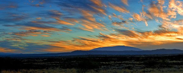"""Mauna Kea Sunrise Panorama""  Big Island Hawaii."