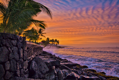 Kailua-Kona sunrise. Big Island Hawaii, December 2010.