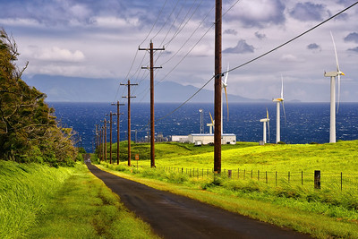 Maui as viewed from U'polu, North Kohala. Big Island Hawaii, July 2012.