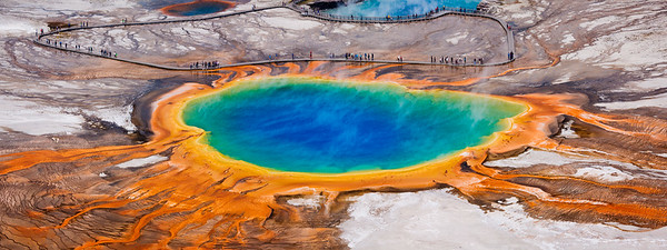 Grand prismatic spring / Yellowstone, USA