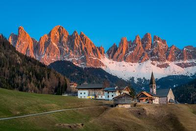 The Geisler peaks / Santa Maddalena, Italy