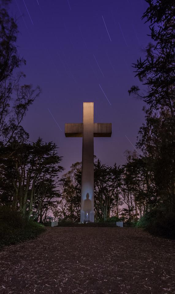 mt davidson, san francisco, california, sean, cross, sf, night, alien, x-files