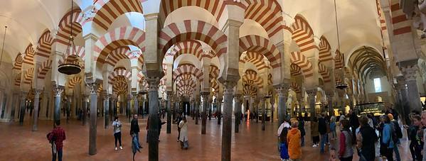 Inside the sprawling Mosque in the Mezquita-Catedral de Cordoba