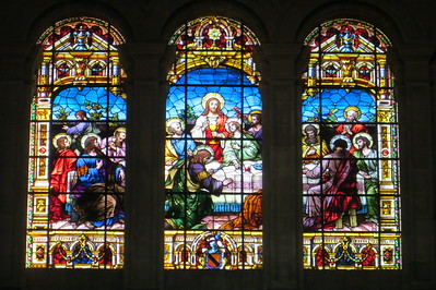 Stained glass windows in the Cathedral of the Mezquita-Catedral de Cordoba