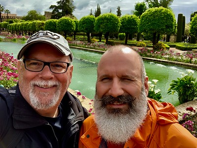 Enjoying a great day touring the Alcazar de los Reyes Cristianos in Cordoba, Spain