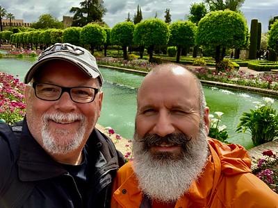 Enjoying a great day touring the Alcazar de los Reyes Cristianos in Cordoba, Spain