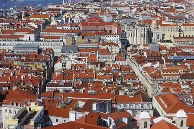Looking west across Lisbon