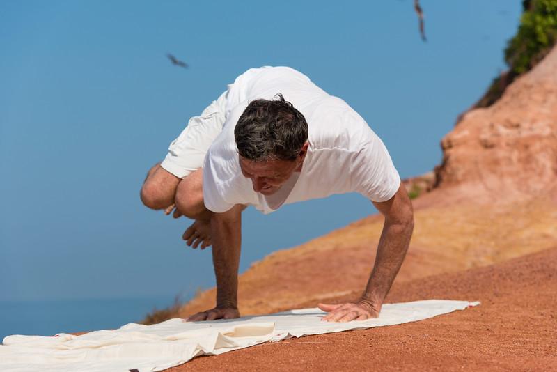 Posture de Yoga en Inde