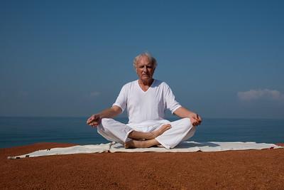 Posture de méditation au Kerala