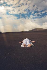 La posture Savasana au volcan
