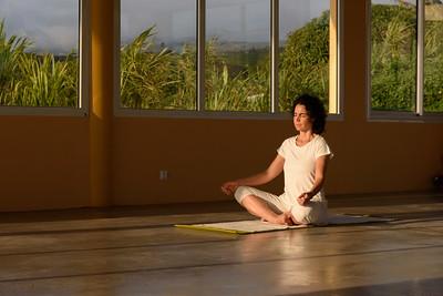 Relaxation durant le cours de Hatha Yoga