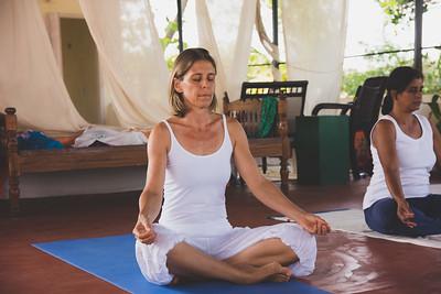 Cours de Hatha Yoga au Kerala