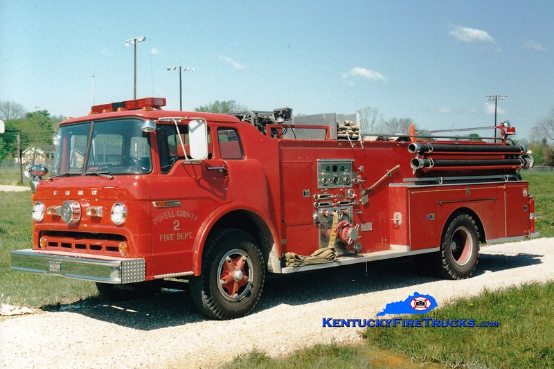 <center> RETIRED <br> Clay City-Powell County  Engine 21 <br> 1974 Ford C/Sutphen 750/1000  <br> Greg Stapleton photo </center>