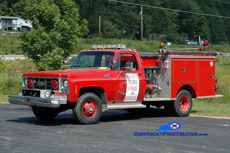 Middlefork  Engine 53<br /> x-Stanton, KY<br /> 1979 Chevy K30 4x4/Pierce 350/250<br /> Greg Stapleton photo
