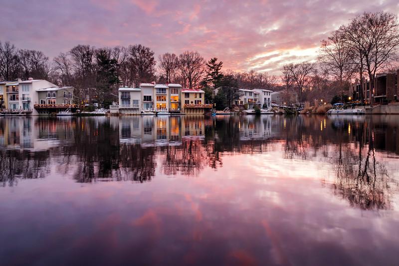 Lake Anne Winter Sunset