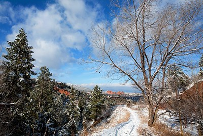 Snowy Red Rock Canyon