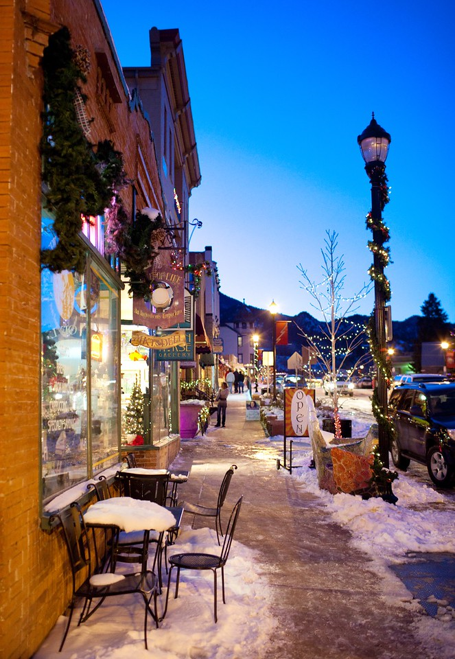 Manitou Springs at Christmastime