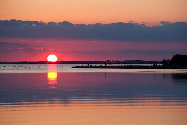 Sunset over the Currituck Sound