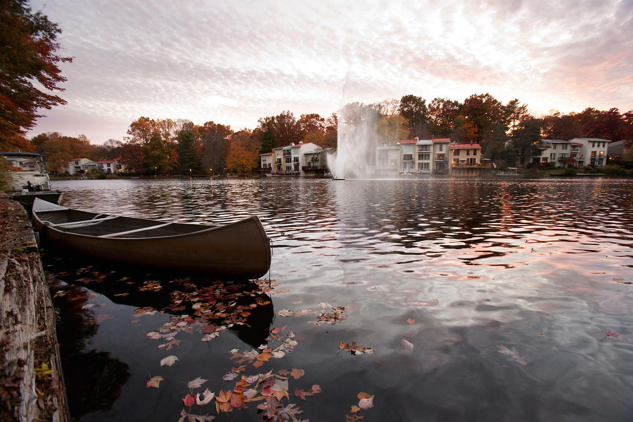 Fall evening at Lake Anne