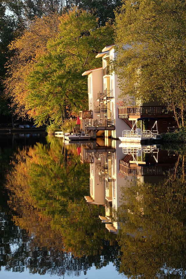 Waterview Cluster autumn reflection