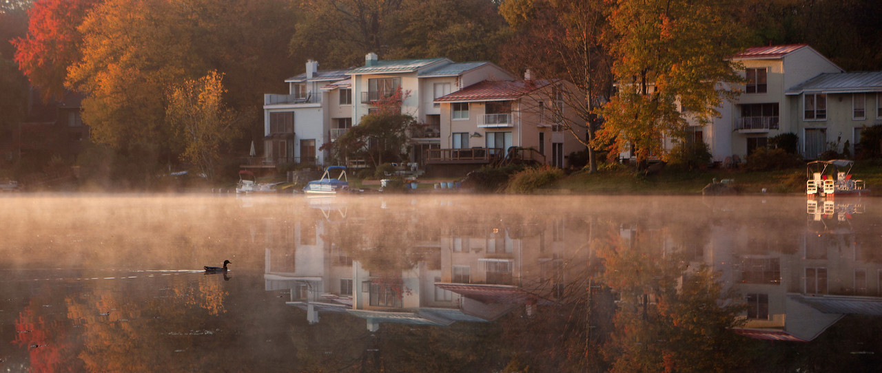 First light at Lake Anne