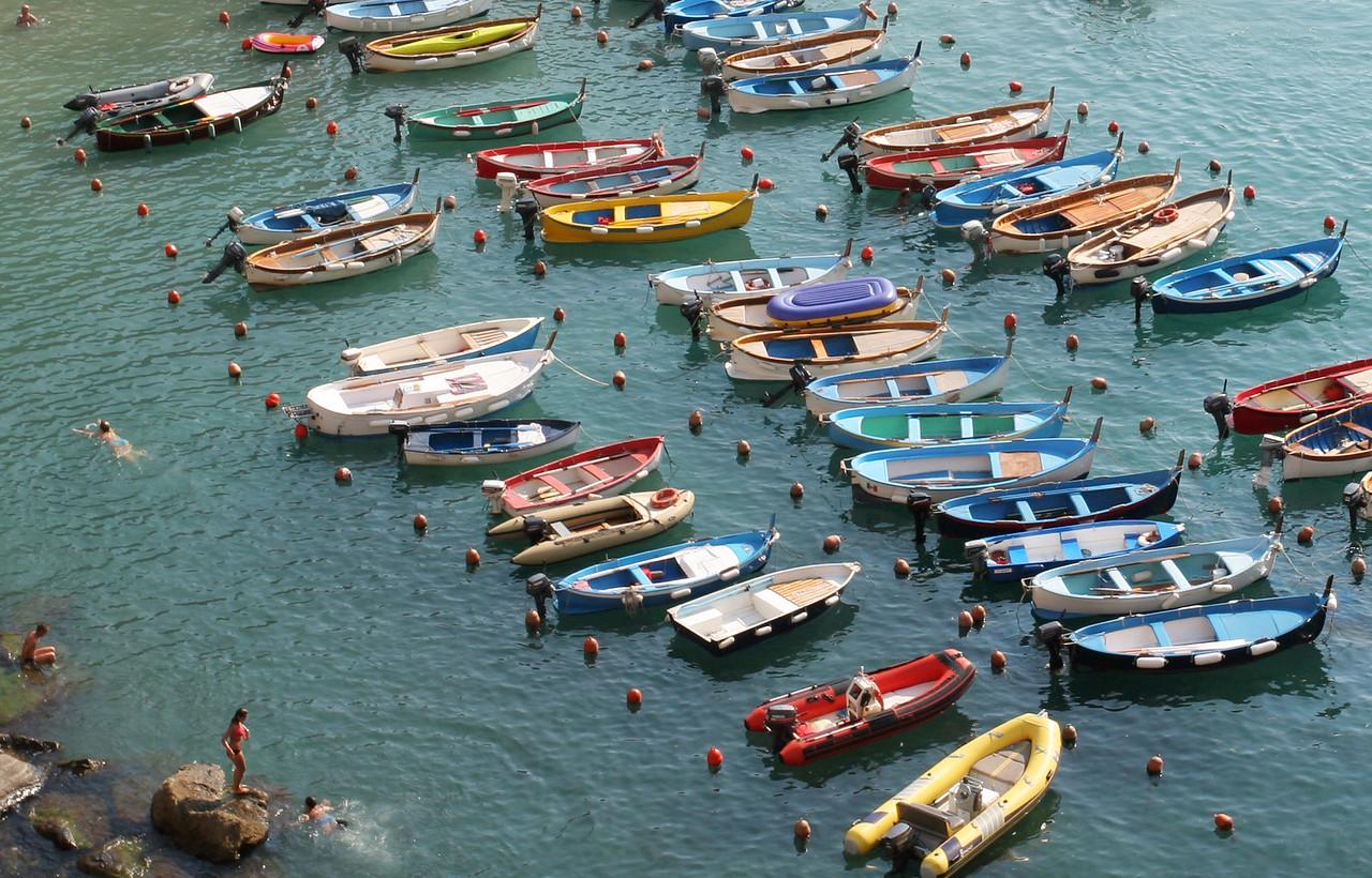 Cinque Terre boats
