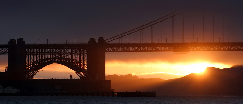 Sunset at the Golden Gate Bridge