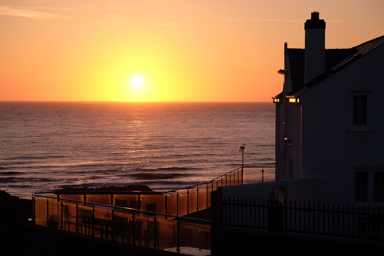 Sunset on the coast of Wales