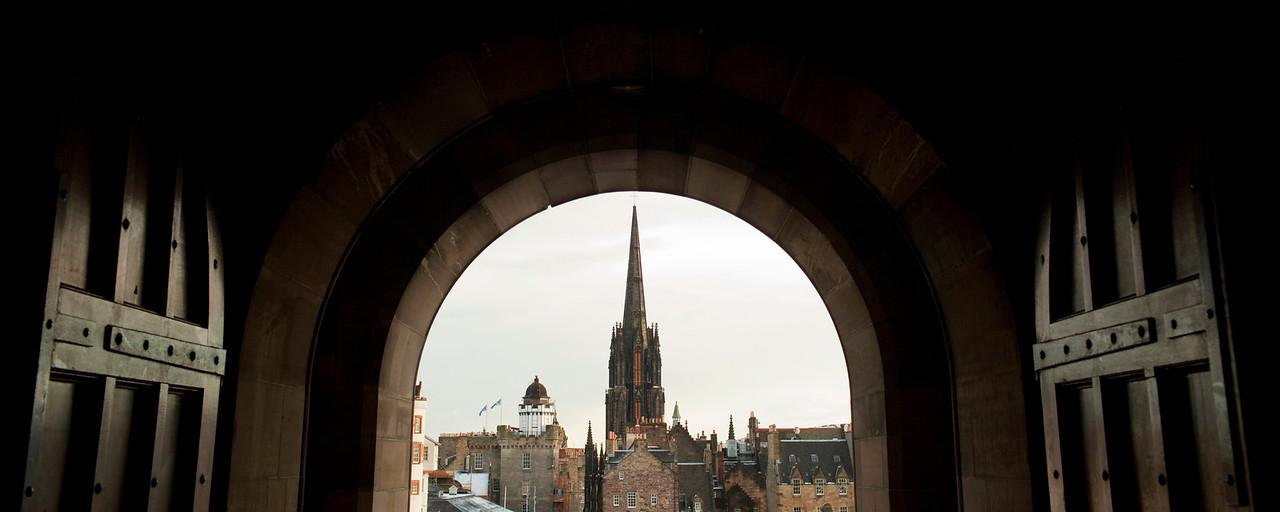View from Edinburgh Castle gate