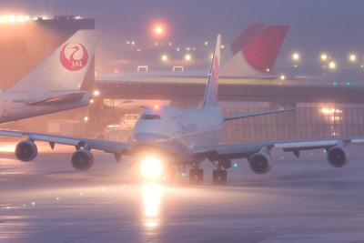After the storm / Narita airport, Japan