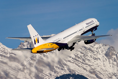 Winter tourism / Innsbruck airport, Austria