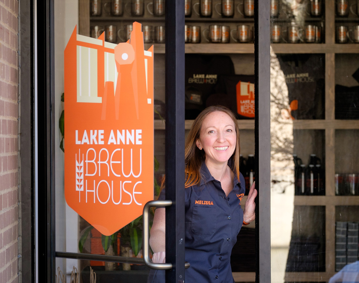 Melissa, the co-owner of the Lake Anne Brew House