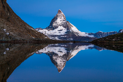 Matterhorn blue hour / Riffelsee, Switzerland