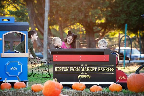 Kiddie train at the Reston Farm Market