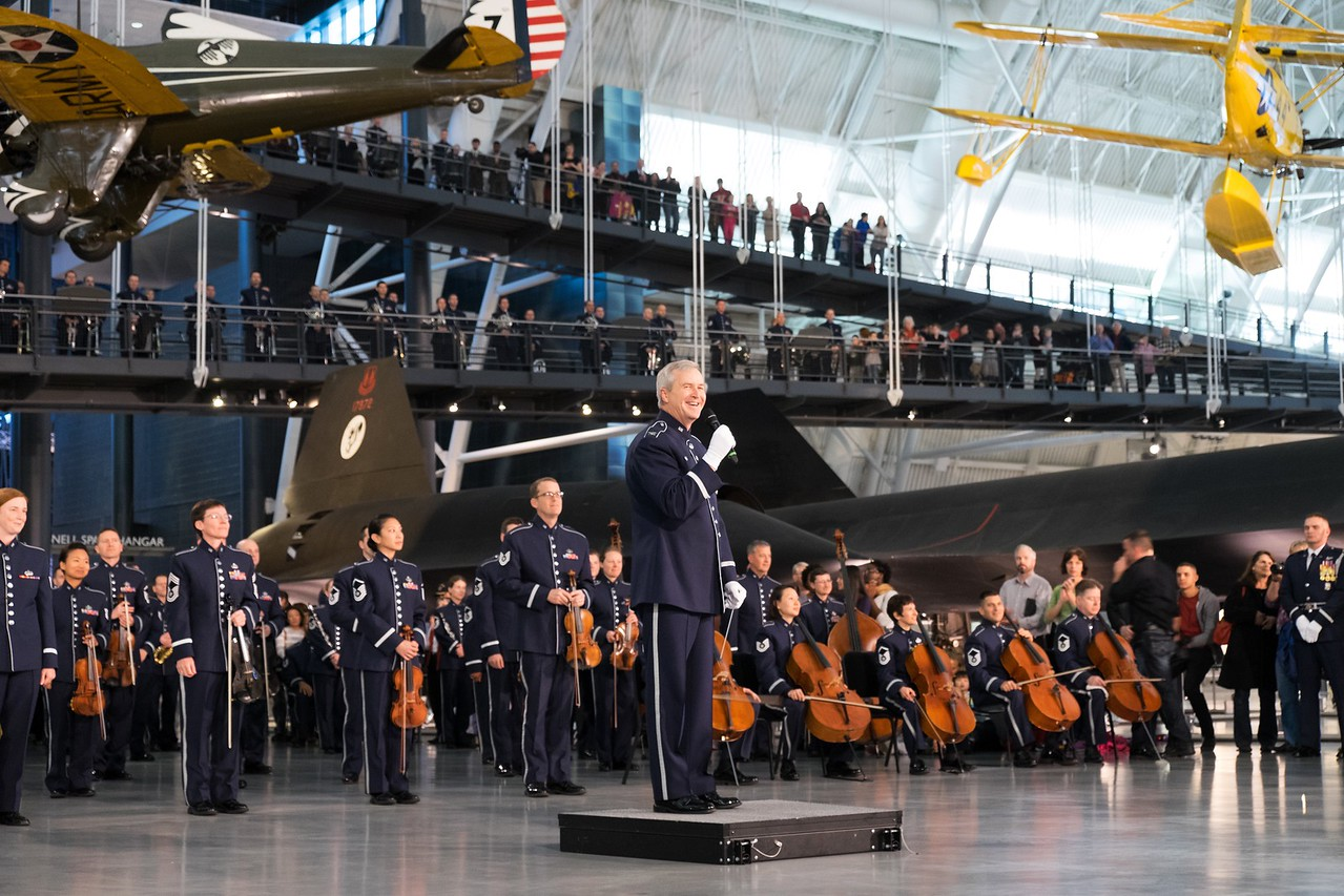 Air Force flash mob concert at the Udvar-Hazy Air And Space Museum