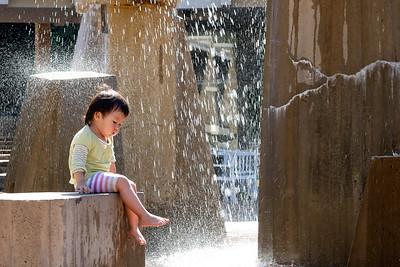 Children's fountain at Lake Anne