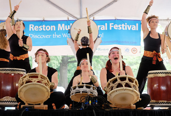 Drummers at the Reston Multicultural Festival