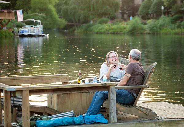 Reston deck boat