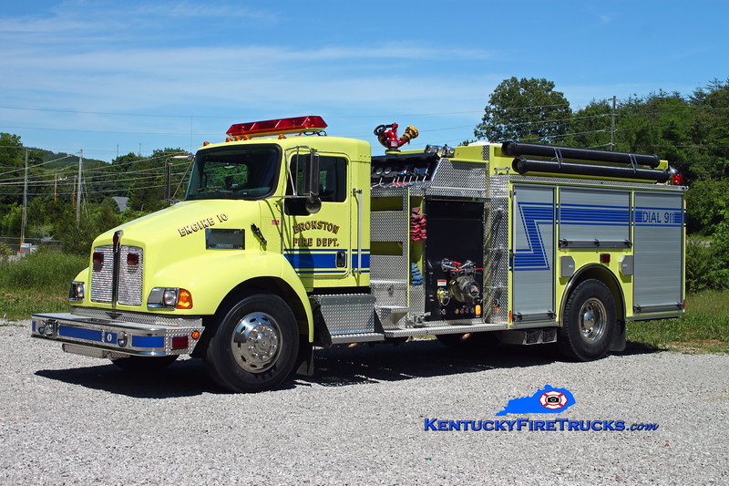 <center> Bronston Engine 10 <br> 2005 Kenworth T-300/Pierce 1250/1000/30 <br> Kent Parrish photo </center>