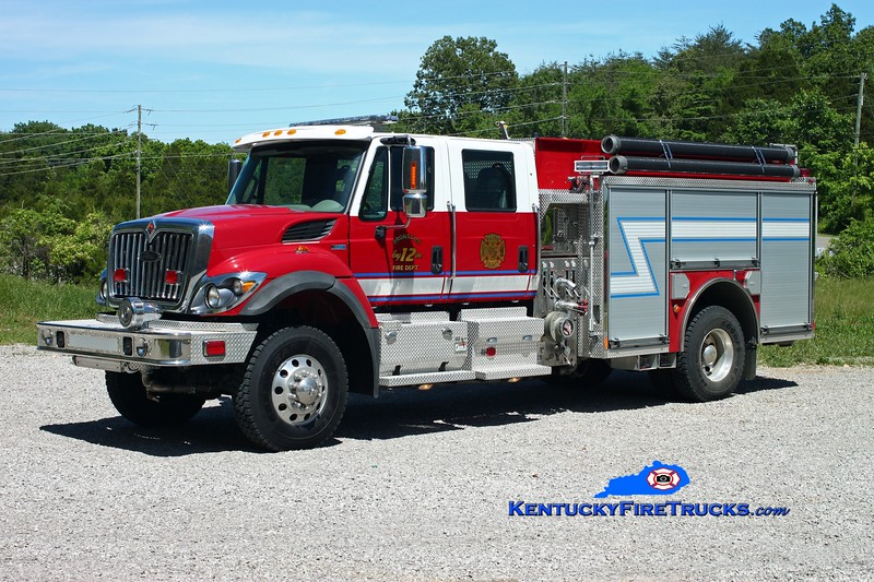 <center> Bronston Engine 12 <br> 2011 International 7400 4x4/Pierce 1250/1000/30 <br> Kent Parrish photo </center>