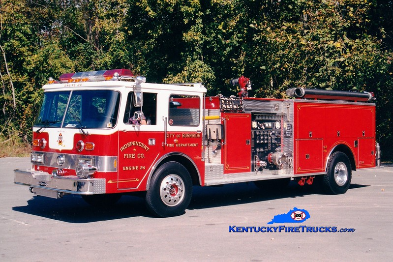 <center> RETIRED <br> Burnside  Engine 24 <br> x-Lebanon, PA <br> 1982 Duplex/Pierce Arrow 1250/500 <br> Greg Stapleton photo </center>