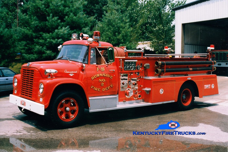 <center> RETIRED <br> Burnside  Engine 19 <br> 1963 International Loadstar/Pirsch  750/500 <br> Greg Stapleton photo </center>
